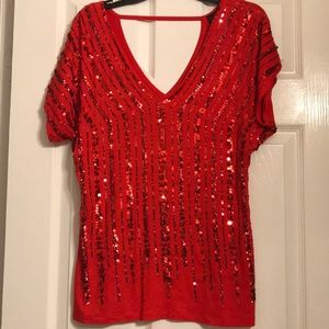 Bling red top